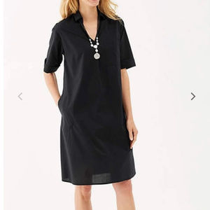 J.Jill black pocket shirt dress